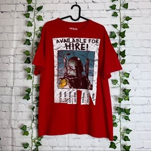 STAR WARS Red Short Sleeves Graphic Tee
